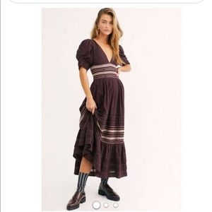 Free People Delicacy Midi Dress Size:M